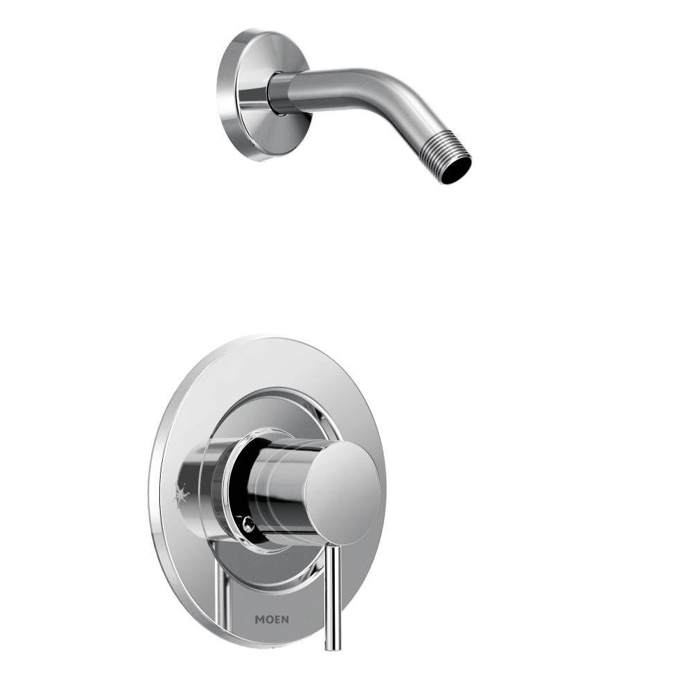 MOEN Align Single-Handle Posi-Temp Shower Faucet Trim Kit in Matte ...