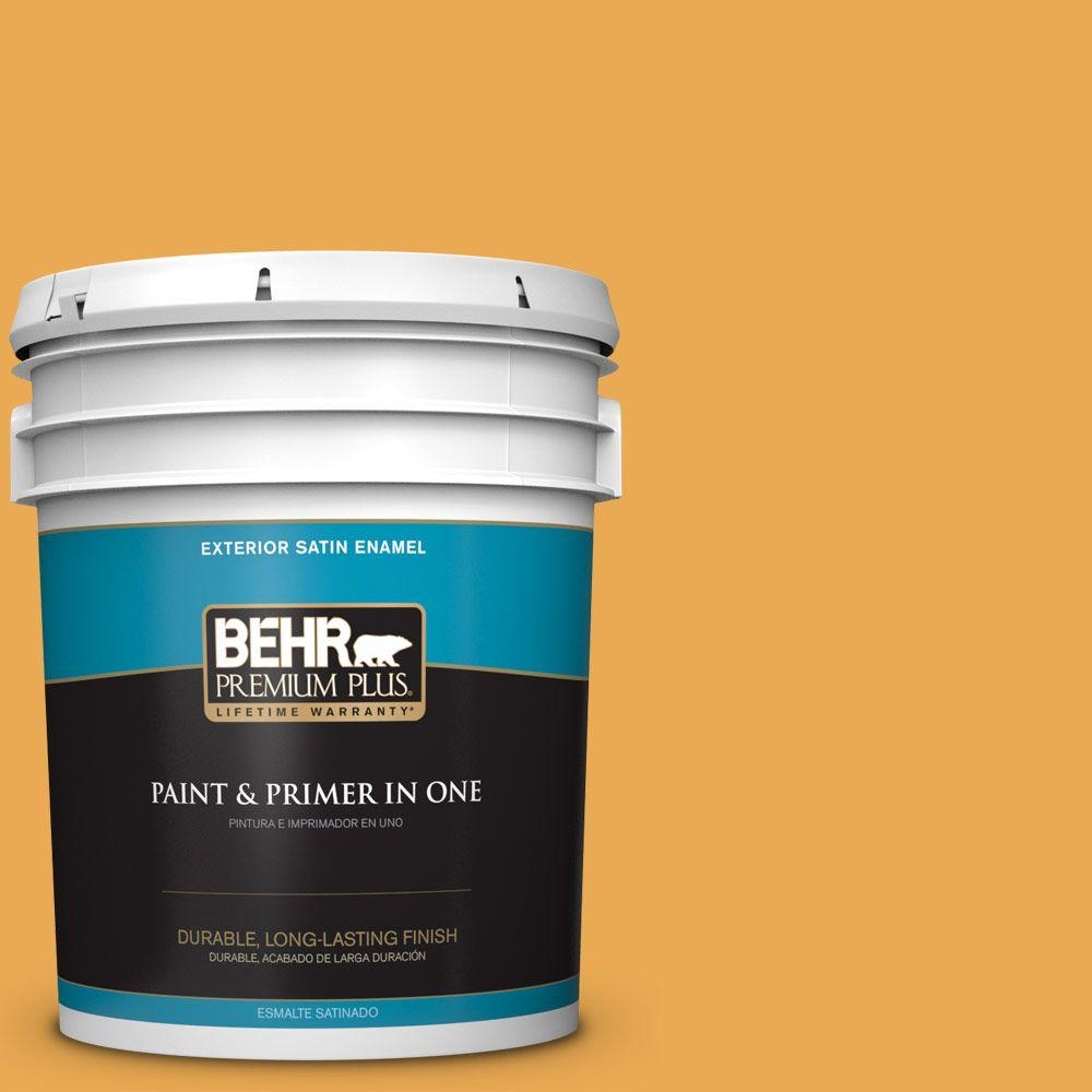 5-gal. #BIC-43 Optimist Gold Satin Enamel Exterior Paint