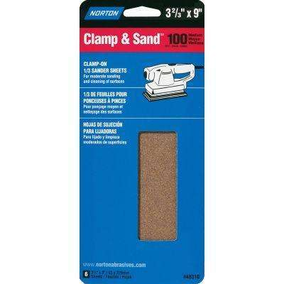 6-Pk. 3-2/3 x 9 In. Handy Pak Sanding Sheet, Medium