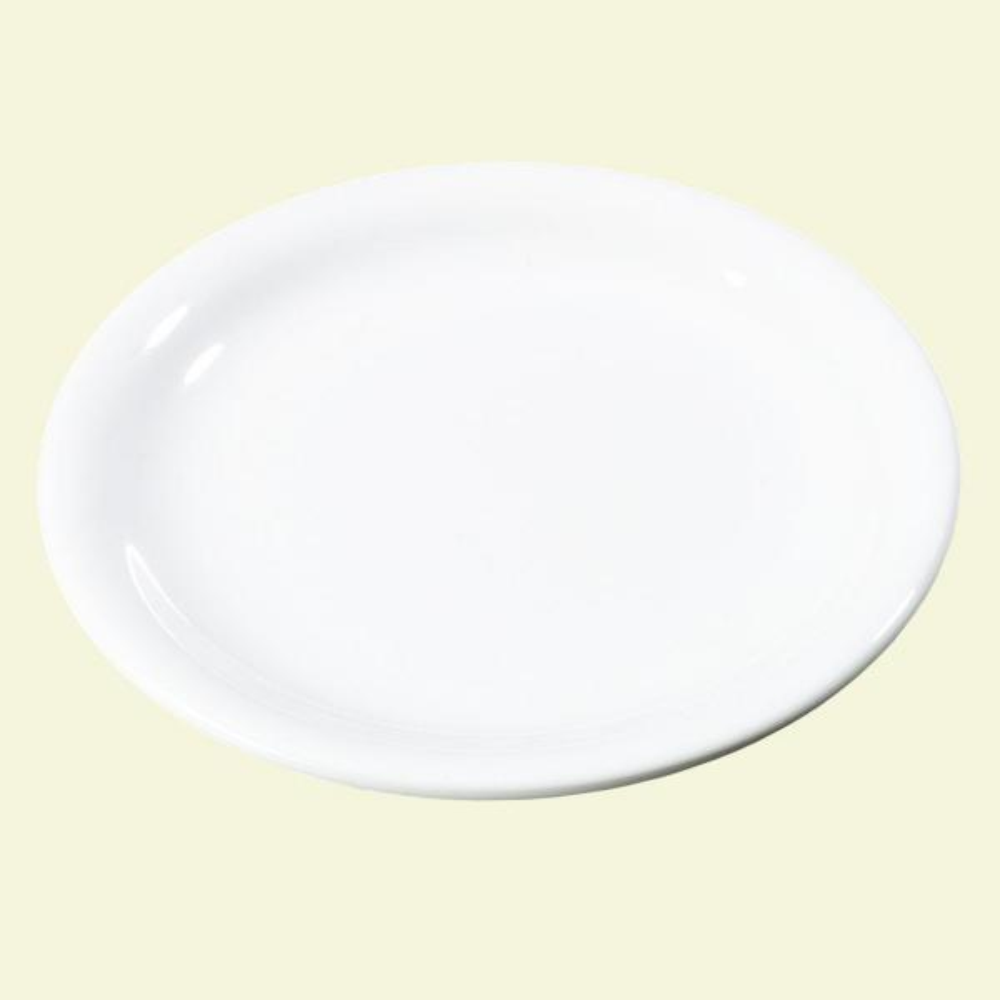 Carlisle 7.25 in. Diameter Melamine Narrow Rim Salad Plate in White