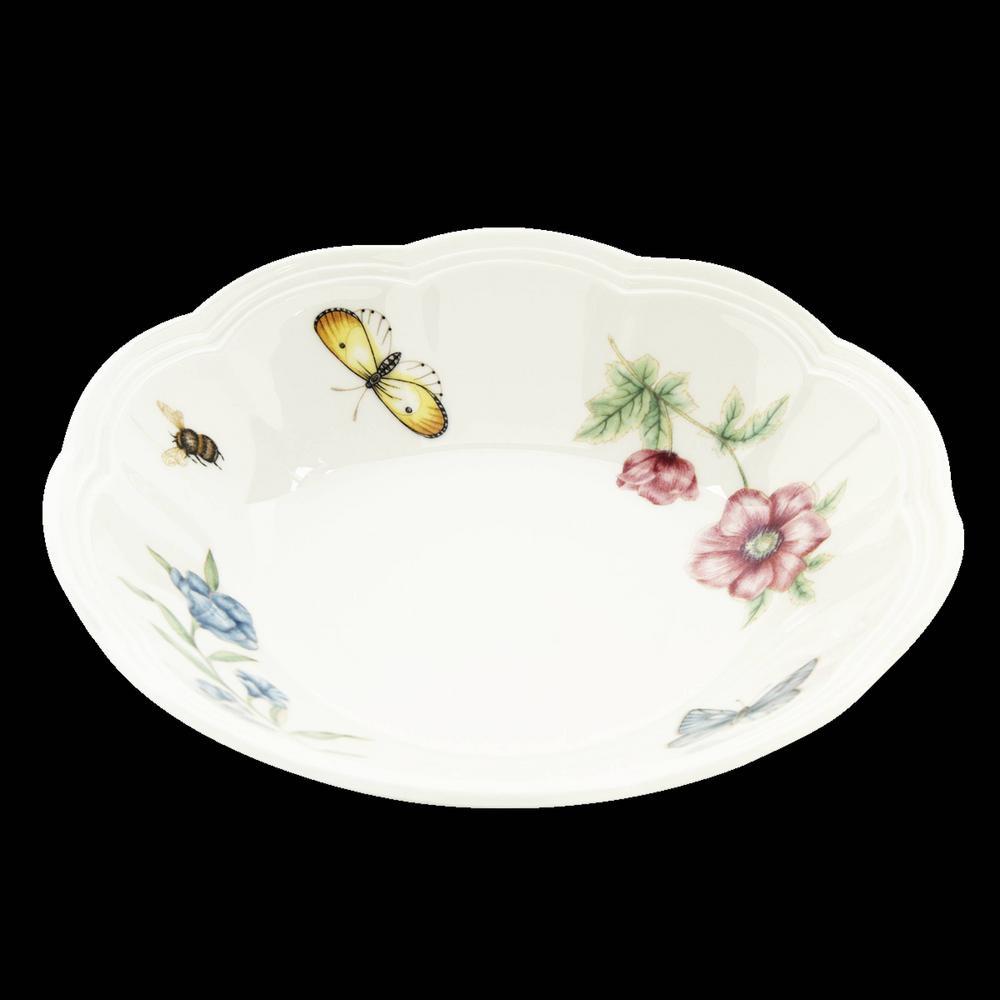 Butterfly Meadow 11 oz. Porcelain Multi Color Fruit Bowl