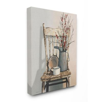 """24 in. x 30 in. """"Vintage Rustic Things Neutral Painting"""" by Cecile Baird Canvas Wall Art"""