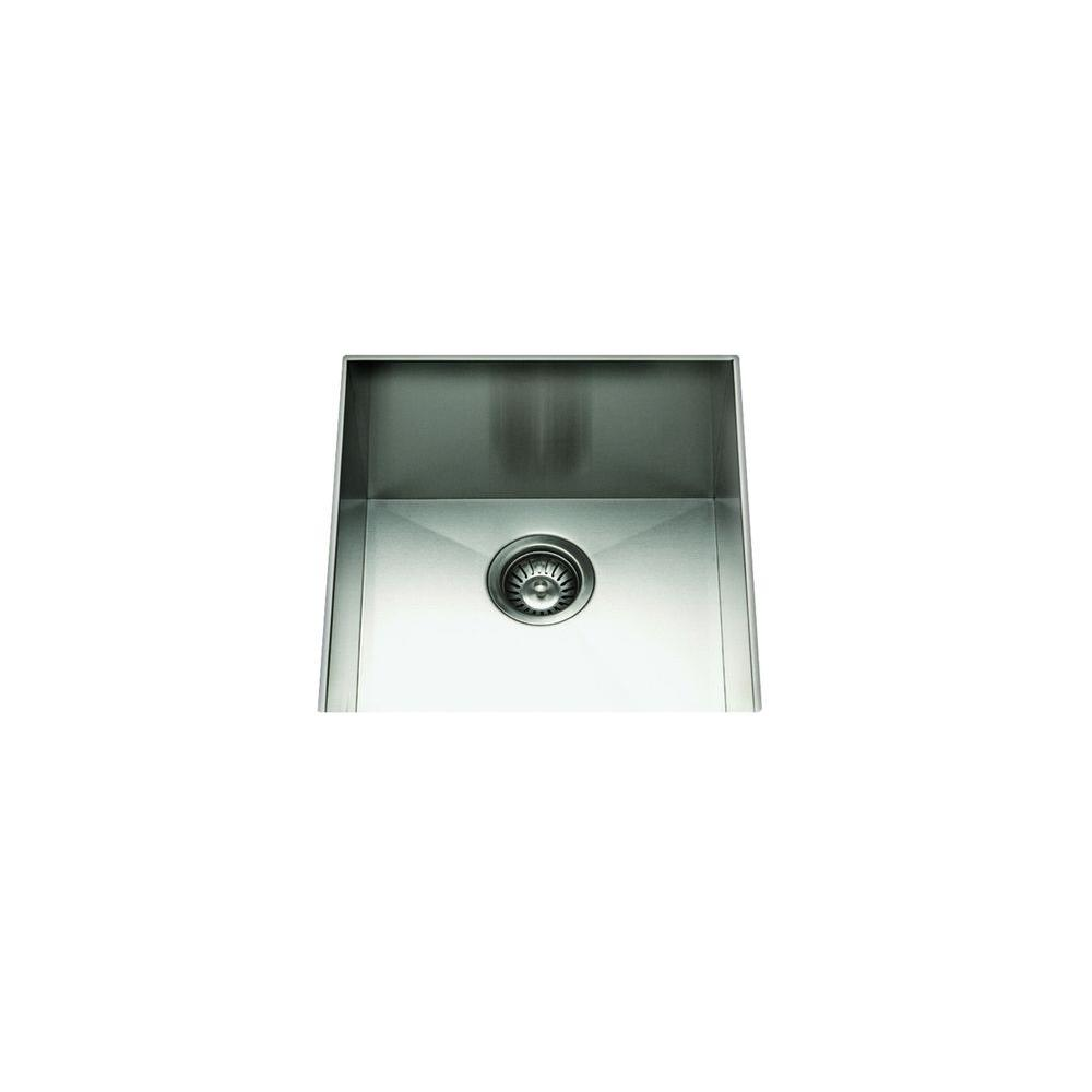 Filament Design Cantrio Undermount Stainless Steel 19 in. Single Bowl Kitchen Sink