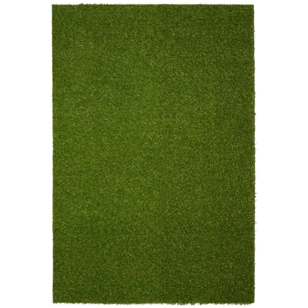 Garland Rug Artificial Grass Turf 4 ft. x 6 ft. Indoor /Outdoor Area Rug
