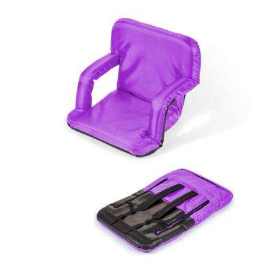 Portable Multiuse Adjustable Purple Recliner Stadium Chair
