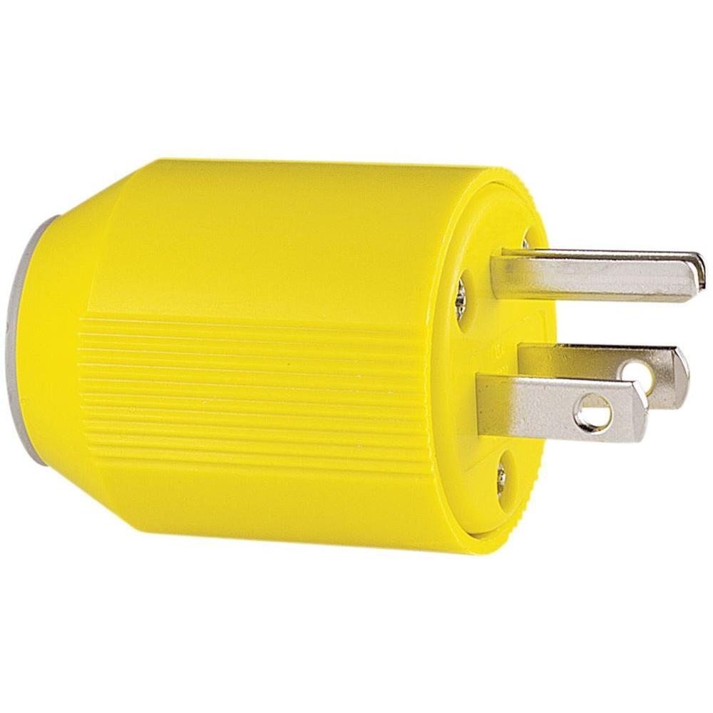 15 Amp 125-Volt 5-15 AutoGrip Plug and Connector