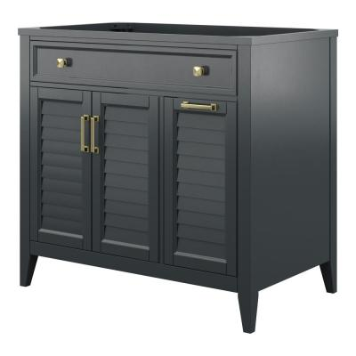 Callen 36 in. W x 21.5 in. D x 34 in. H Bath Vanity Cabinet Only in Charcoal Grey