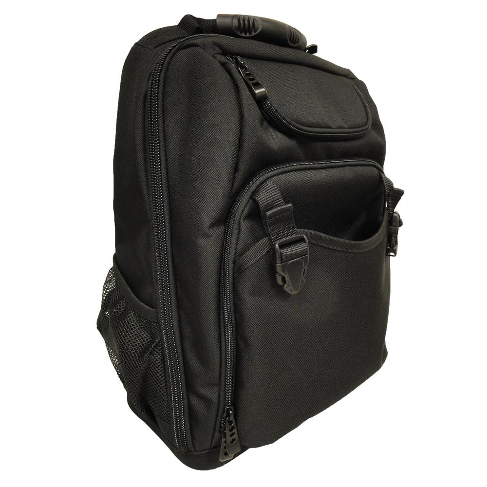 18 in. Tool Bag Backpack in Black