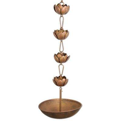 Blossom 8 ft. 8-Cup Rain Chain with Basin