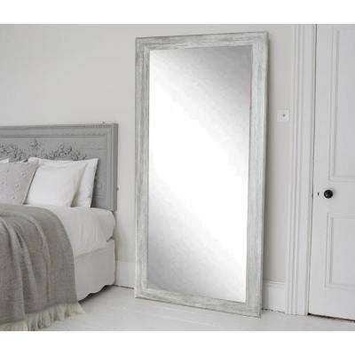 Smooth Rectangle Gray Barnwood Floor Mirror