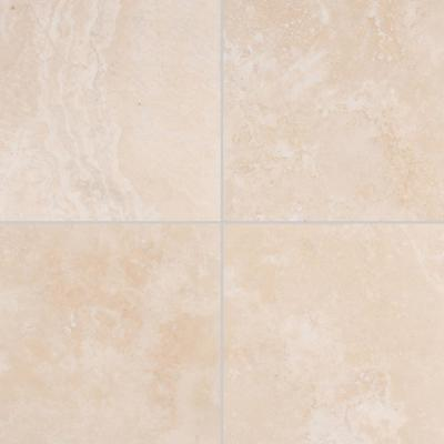 Tuscany Beige 18 in. x 18 in. Honed Travertine Floor and Wall Tile (2.25 sq. ft.)