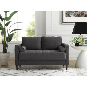 Lifestyle Solutions Lillith Mid Century Modern Loveseat With Tufted