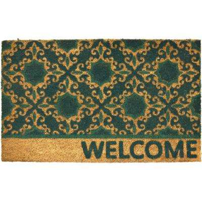 Fiesta 22 in. x 36 in. Coir Outdoor Mat