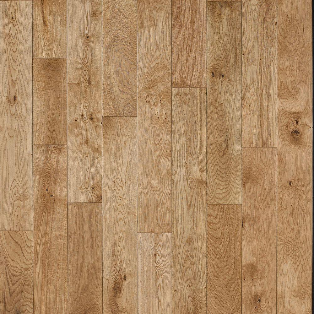 Nuvelle french oak nougat 5 8 in thick x 4 3 4 in wide x for Solid hardwood flooring