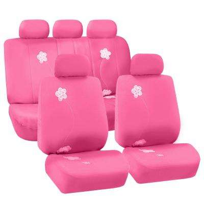 Reds pinks car seat covers cushions auto accessories the full set flower embroidery mightylinksfo