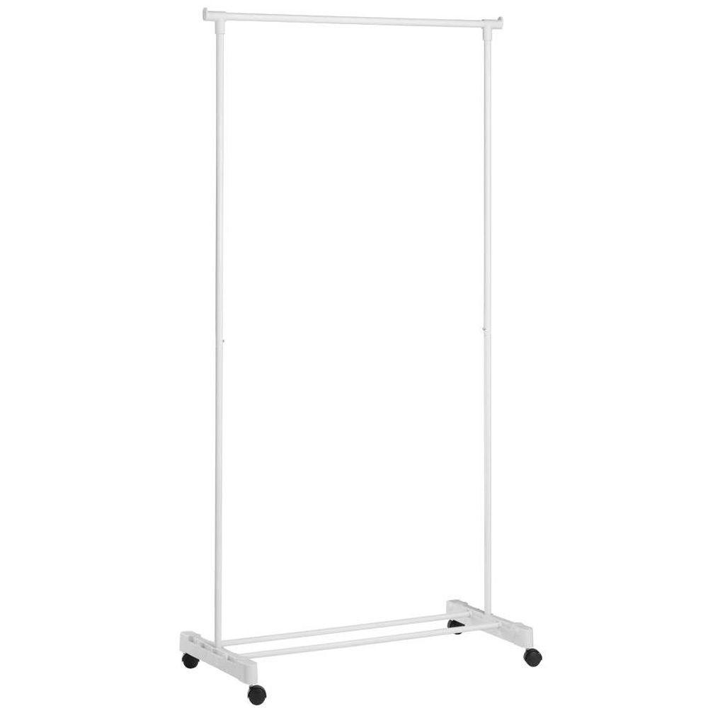 Portable White Garment Rack