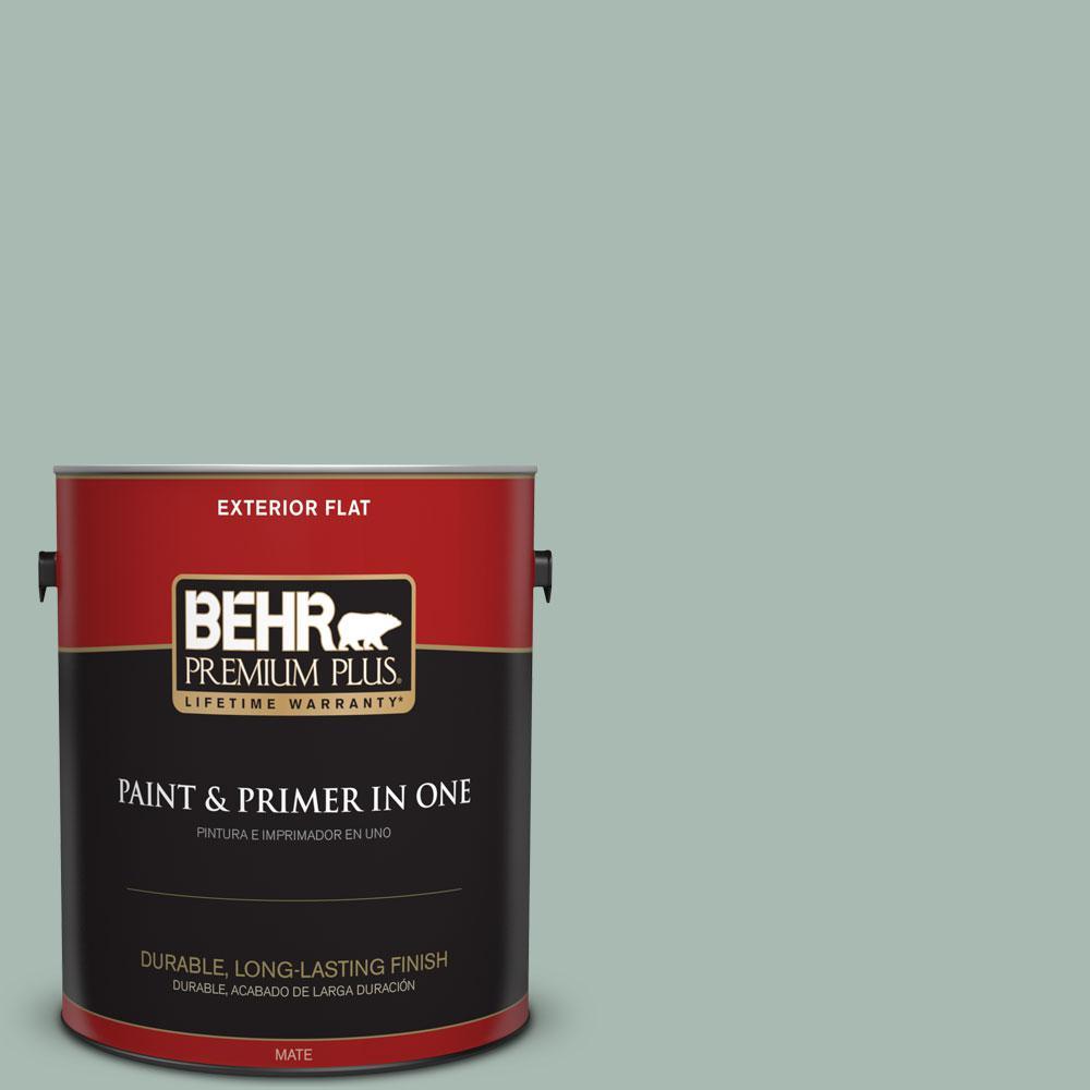 1-gal. #BXC-85 Quiet Teal Flat Exterior Paint