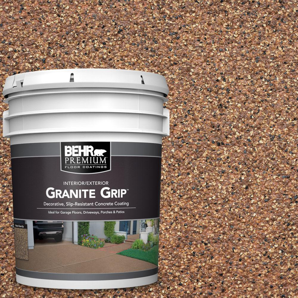 BEHR Premium 5 Gal. #GG-10 Copper Marble Decorative Flat Interior/Exterior Concrete Floor Coating