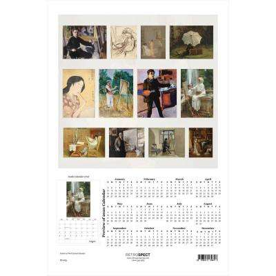 19 in. H x 12.5 in. W Artists at Work - 2019 Calendar