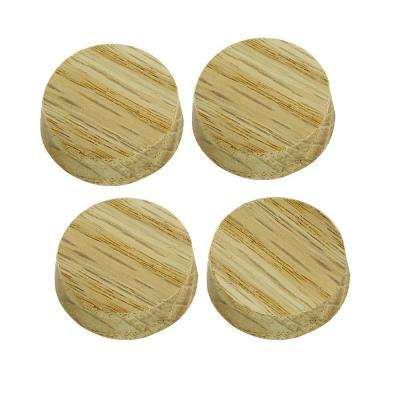 1 in. Unfinished Oak Flat Plugs (4-Pack)