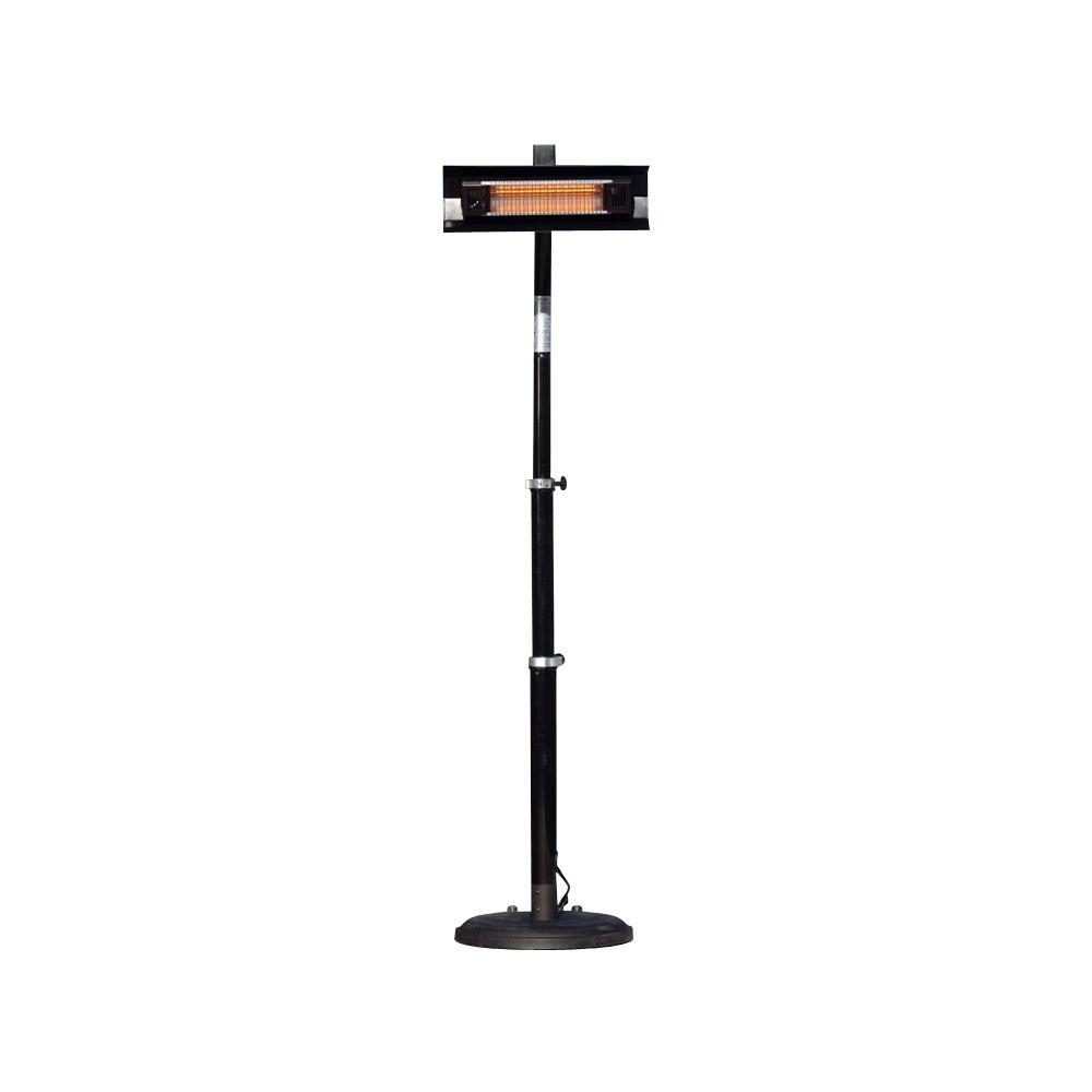 electric patio heater. Fire Sense 1,500-Watt Telescoping Offset Pole Mounted Infrared Electric Patio Heater