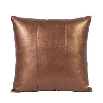 Luxe Yellow Bronze 16 in. x 16 in. Decorative Pillow