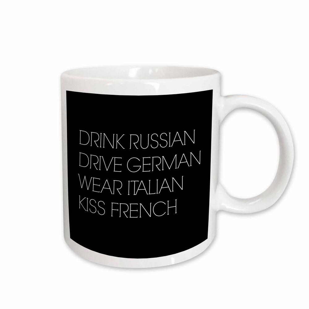 3drose Xander Funny Quotes Drink Russian Drive German Wear Italian