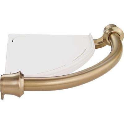 Decor Assist Traditional Corner Shelf with 8-3/4 in. Assist Bar in Champagne Bronze
