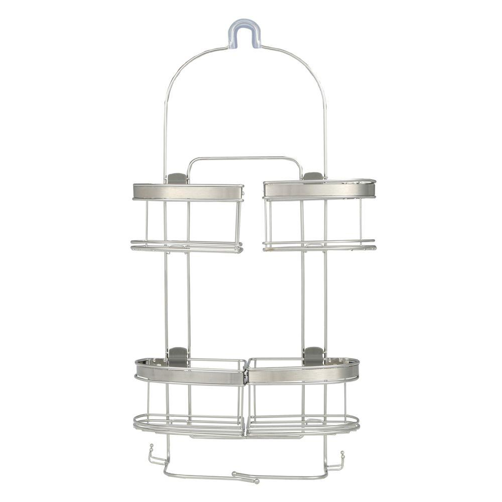 Premium Expandable Shower Caddy for Hand Held Shower or Tall Bottles