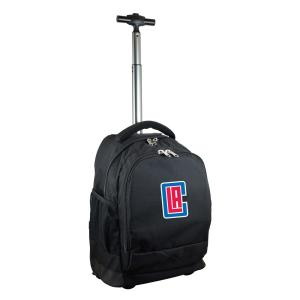NBA Los Angeles Clippers 19 in. Black Wheeled Premium Backpack