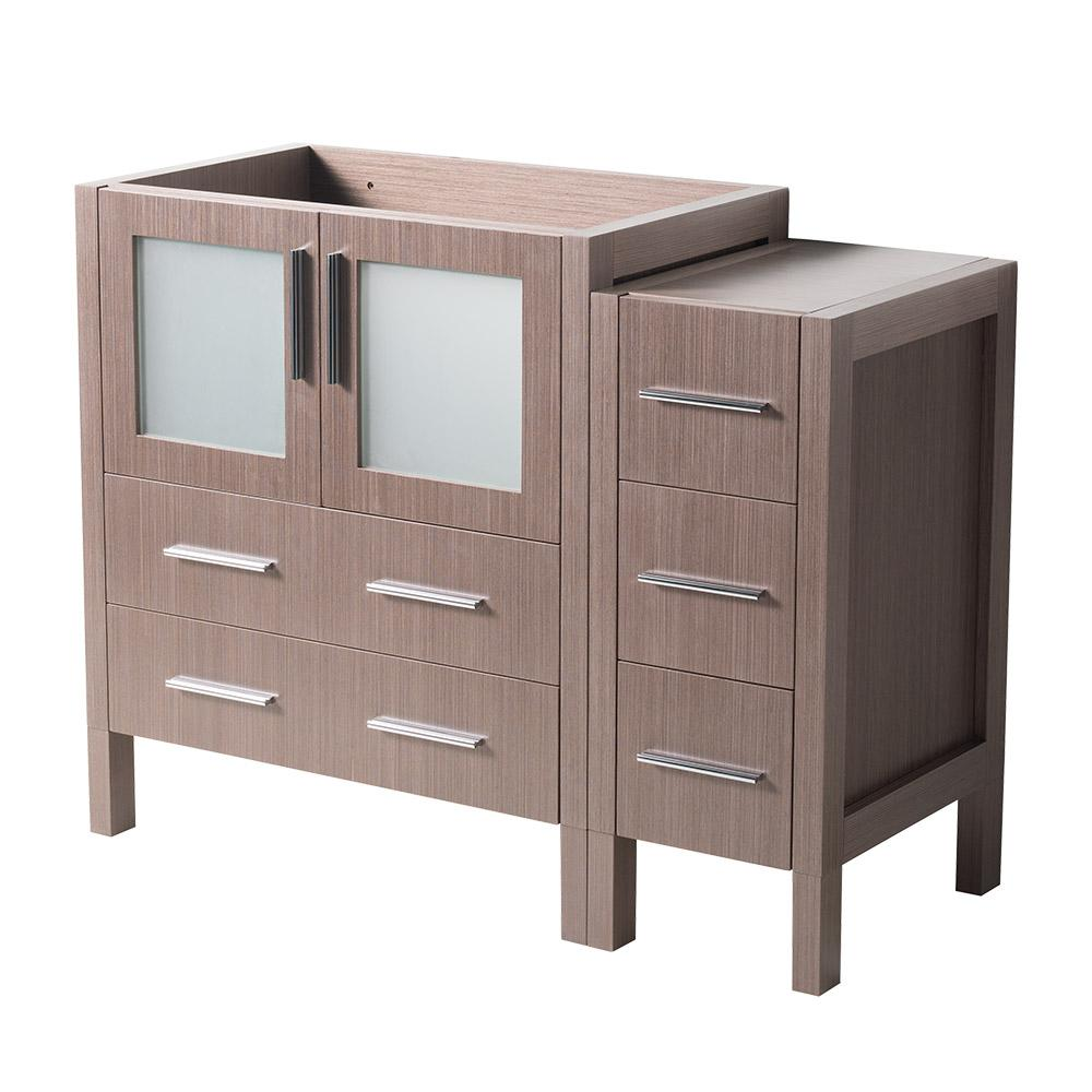 42 in. Torino Modern Bathroom Vanity Cabinet in Gray Oak