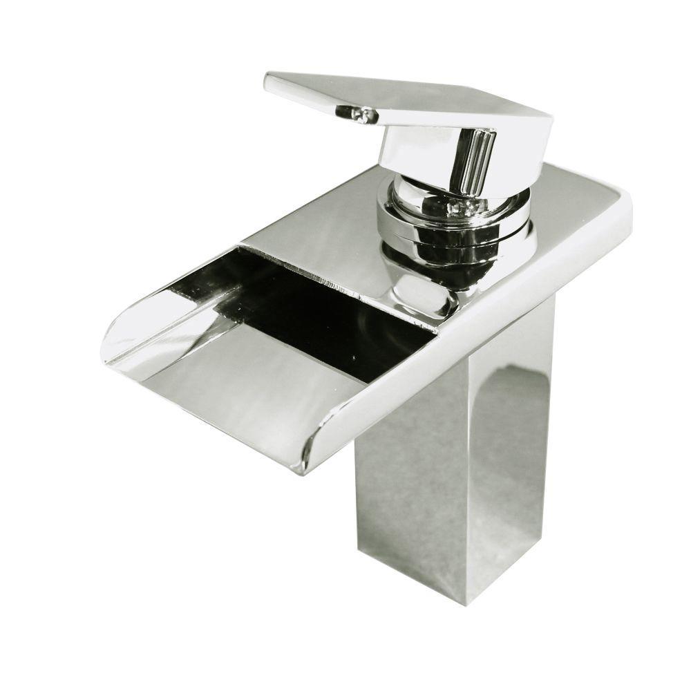 Kokols Viynl Series Single Hole 1 Handle Color Chang LED Vessel Waterfall Bathroom  Faucet In