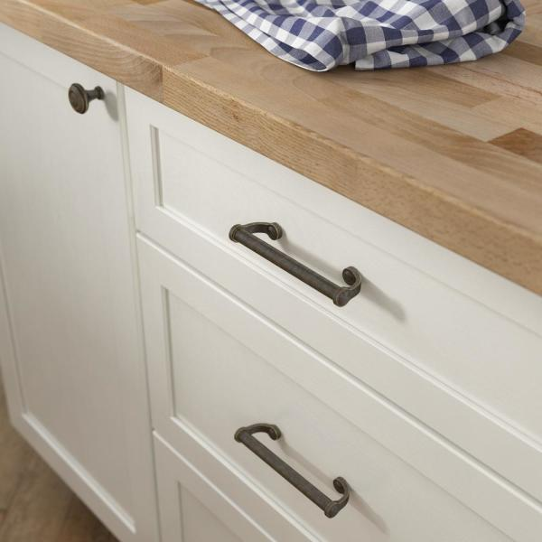 Liberty Rustic Farmhouse 3 3 4 In 96mm Center To Center Warm Chestnut Drawer Pull P38762c Wcn Cp The Home Depot