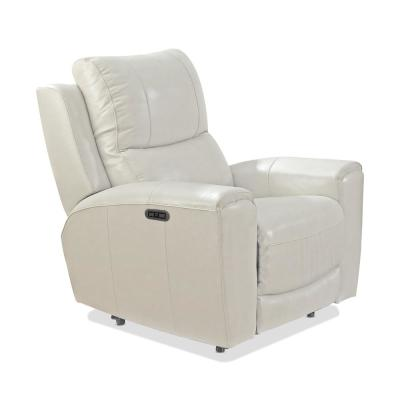 Laurel 1-Seat Ivory Leather And Polyurethane Power Reclining Chair