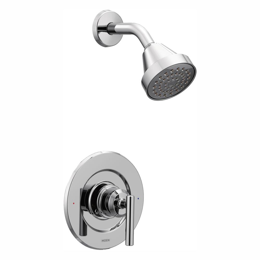 MOEN Gibson 1-Handle Posi-Temp Shower Only Faucet Trim Kit in Chrome (Valve  Not Included)