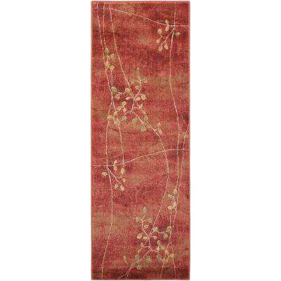 Painted Desert Flame 2 ft. x 8 ft. Runner Rug
