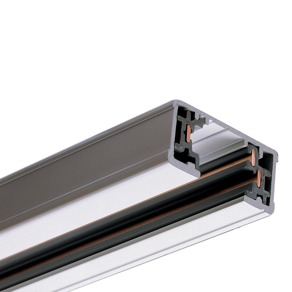 Halo 8 Ft White Single Circuit Track Lighting System Linear Rail Section