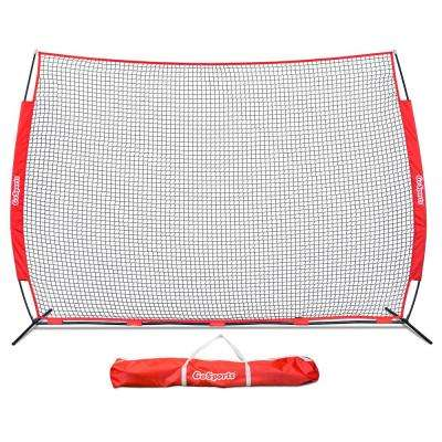 Portable 12 ft. x 9 ft. Sports Barrier Net with Carry Bag