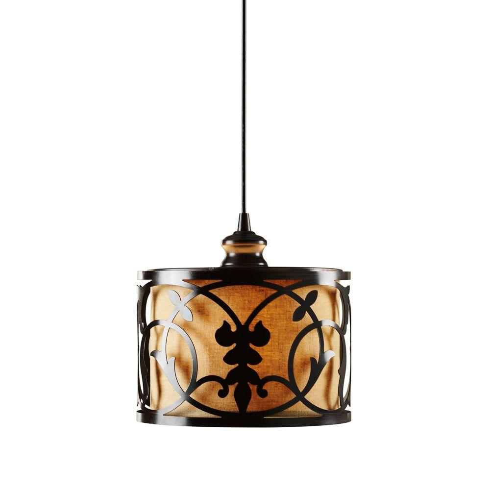 Haven 10 in. Brushed Bronze Pendant Lightt Conversion Kit