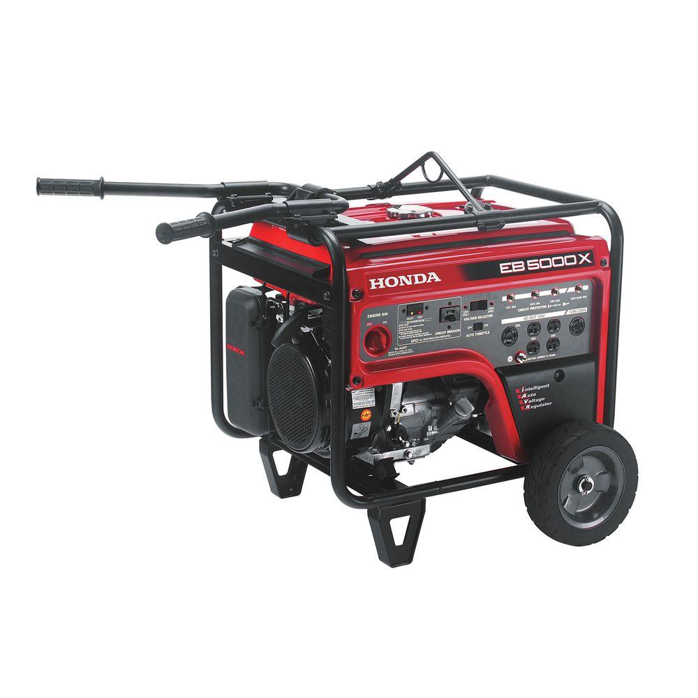 Honda Industrial 5000-Watt Gasoline Powered Portable Generator with GFCI Protection and iGX OHV Commercial Engine