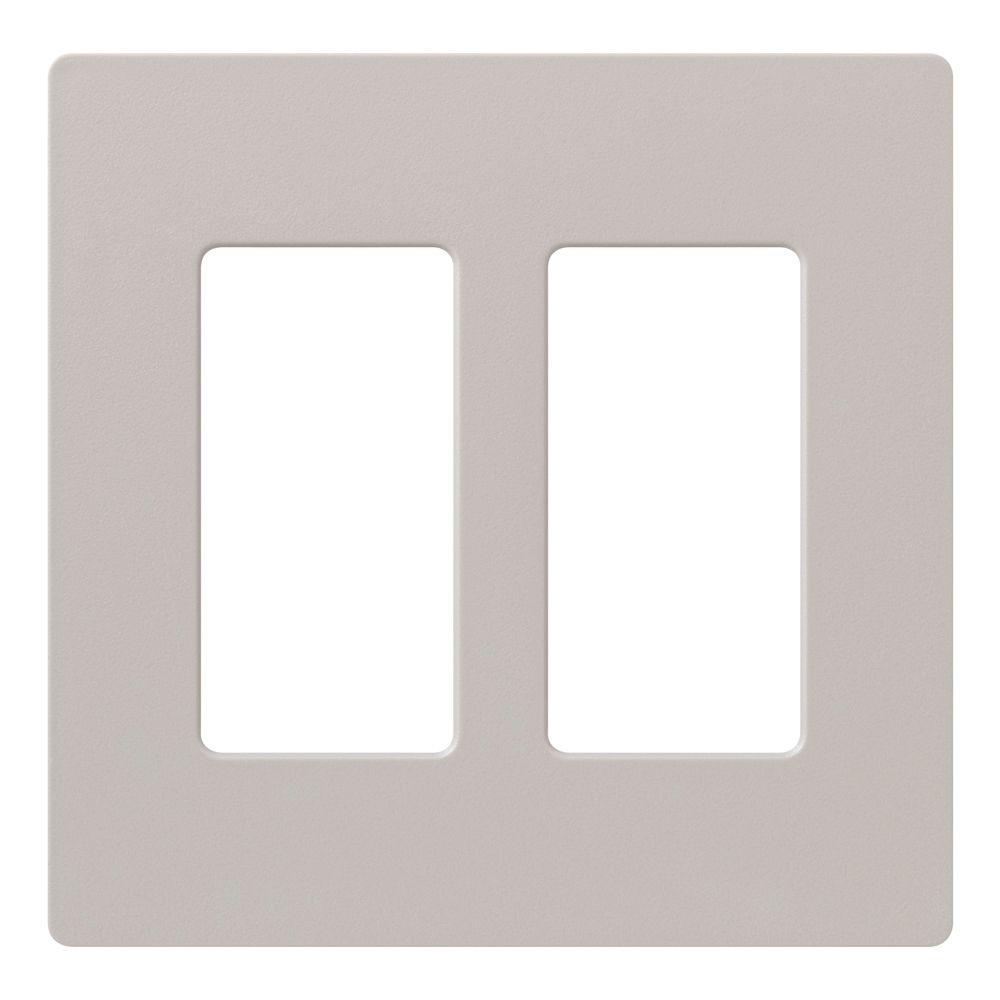 Lutron claro 2 gang decora wall plate taupe sc 2 tp the home depot - Gang grijze taupe ...