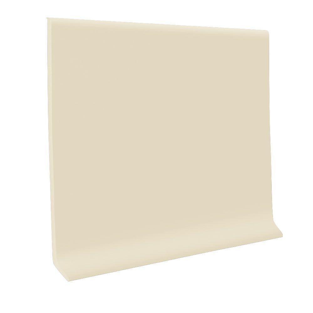 Roppe Vinyl Self Stick Almond 4 In X 0 080 In X 20 Ft