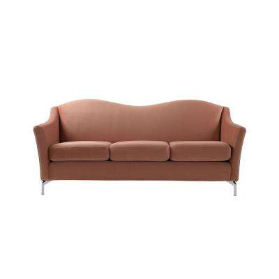 Vincent Orange Camelback Sofa