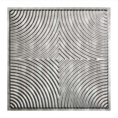 Echo - 2 ft. x 2 ft. Lay-in Ceiling Tile in Crosshatch Silver