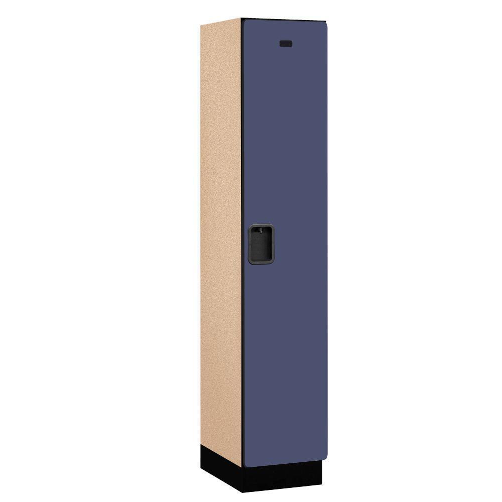 21000 Series 1-Tier Wood Extra Wide Designer Locker in Blue -