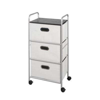 3 Drawer Cart with MDF Top- Gray