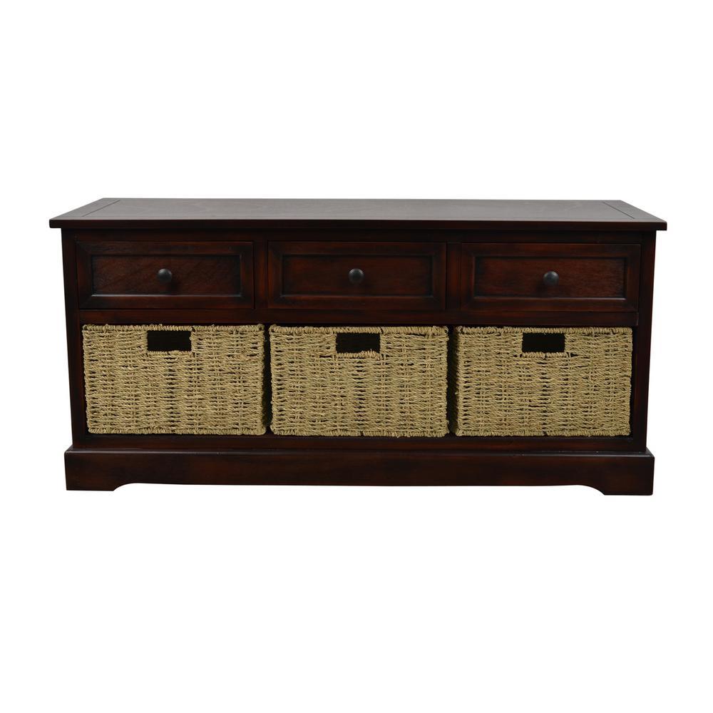 Montgomery Mahogany Storage Bench