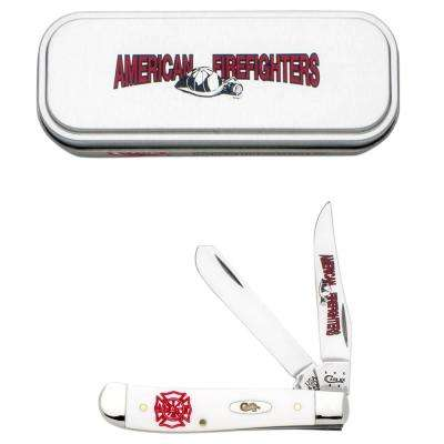White Synthetic Mini Trapper Pocket Knife