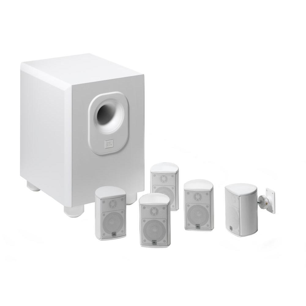 Architectural Edition Powered by JBL 5.1-Channel Home Theater System in White
