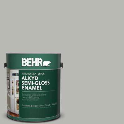 1 gal. #N380-3 Weathered Moss Semi-Gloss Enamel Alkyd Interior/Exterior Paint